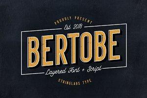Bertobe - Layered Font (40% OFF)