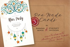 3. Set Of Ramadan Pre-Made Cards
