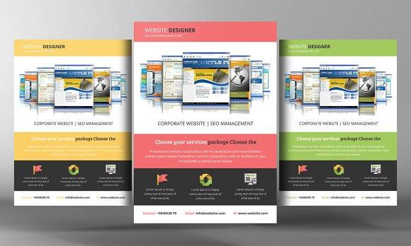 15 website design agency flyers flyer templates creative market