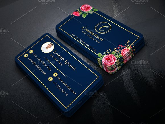 Business Card With Floral Touch