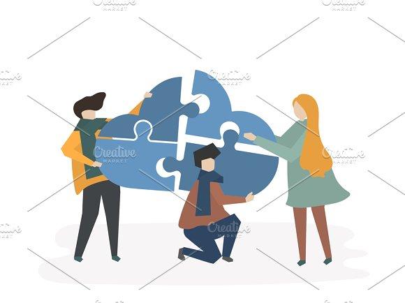 Illustration Of Teamwork People