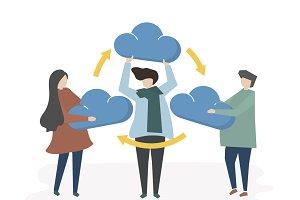 Illustration of cloud network