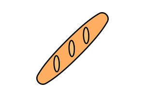 Baguette color icon