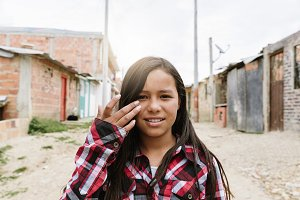Portrait of cute latino girl.