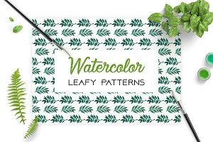 Leafy Patterns Watercolor