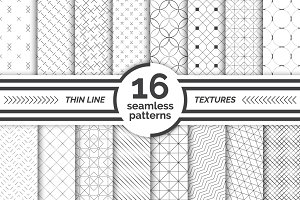 Modern seamless patterns. Big set