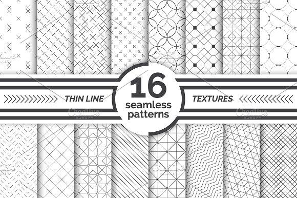 Modern Seamless Patterns Big Set
