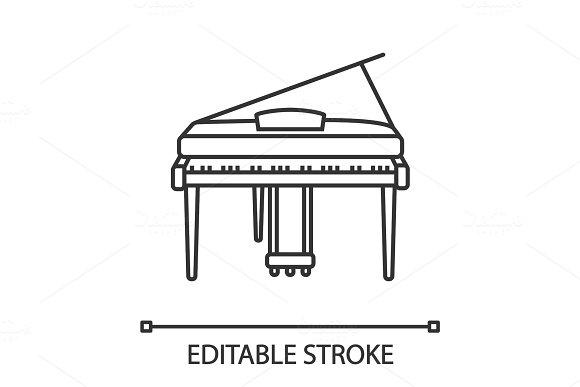 Piano Linear Icon