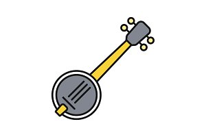 Banjo color icon