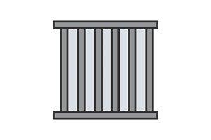 Prison bars color icon