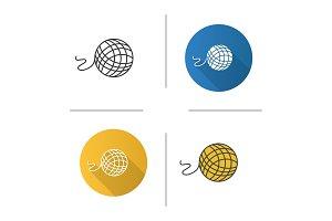 Knitting yarn clew icon