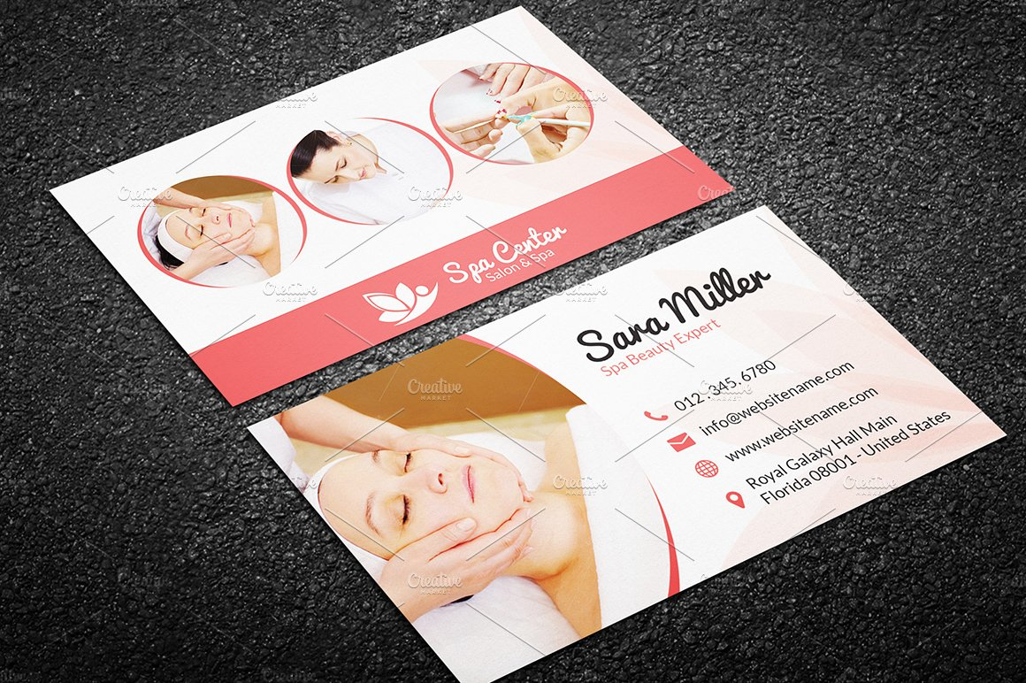 Beauty Salon Spa Business Card 41 ~ Business Card Templates ...