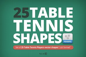 25 Table Tennis Players shapes
