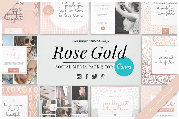 CANVA | Rose Gold Social Pack 2