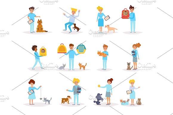 Veterinarians With Animals