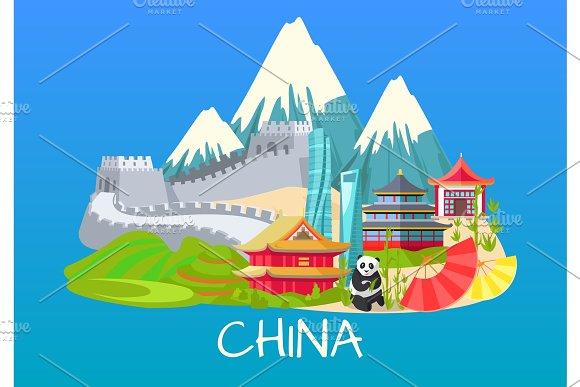 Great Wall Of China Asian Building Rare Panda
