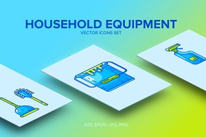 Household Icons Vector set
