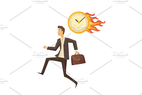 Time Management And Clock Vector Illustration