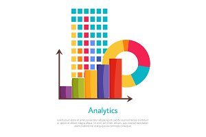Analytics Set of Multicolored Graphics Poster
