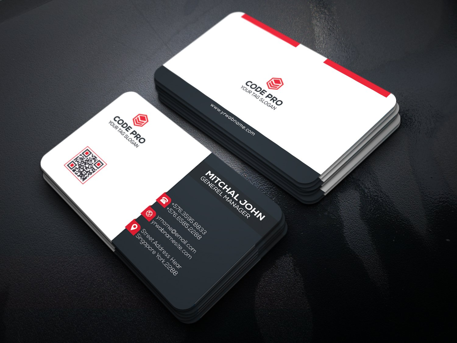 Corporate business card ~ Business Card Templates ~ Creative Market