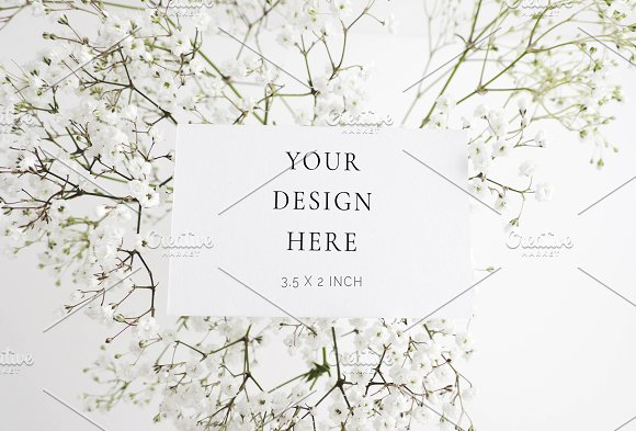 Baby's Breath Business Card Mockup