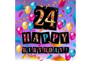 24th anniversary celebration