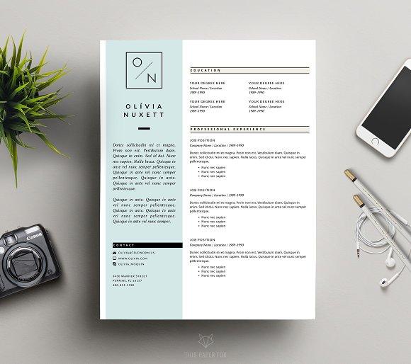 Cv To Resume Minimalist Resume For Ms Word  Resume Templates  Creative Market Summary Of Resume with Free Resume Bulider Excel Minimalist Resume For Ms  Free Resume Template For Word