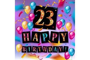 23 years celebration