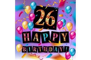 26 years celebration