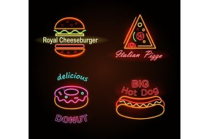 Royal Cheeseburger and Donut Vector Illustration