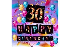30th Years Anniversary