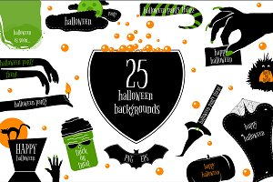25 Halloween backgrounds.