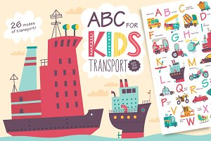 ABC for kids. Transport