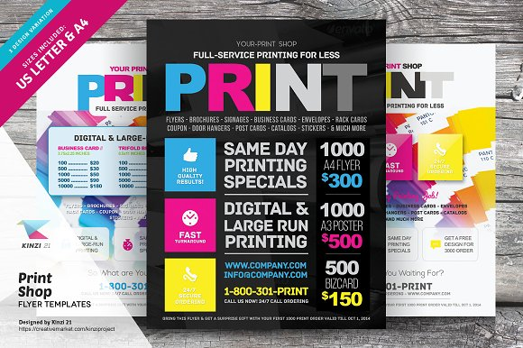 print shop flyer template flyer templates creative market