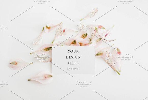 Blush Spring Business Card Mockup