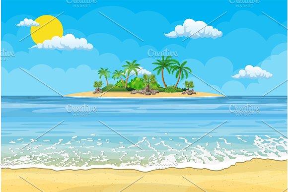 Summer Beach With A Sun