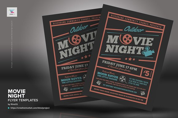 Movie night flyer templates maxwellsz