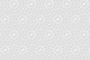 Geometric white crochet lace pattern