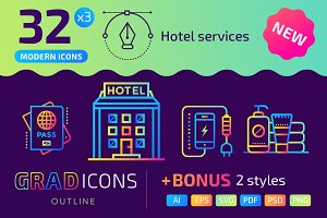 32+ Hotel services : : GRADICONS