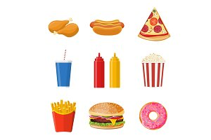Cartoon fast food,