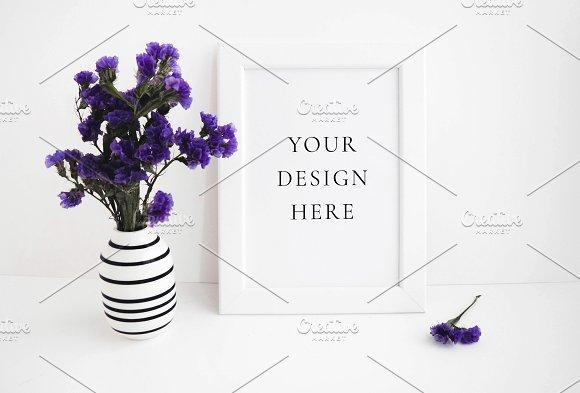 Lavender Floral Spring Frame Mockup