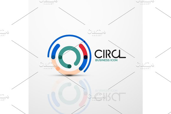 Abstract Swirl Lines Symbol Circle Logo Icon