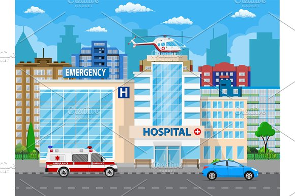 Hospital Building Medical Icon
