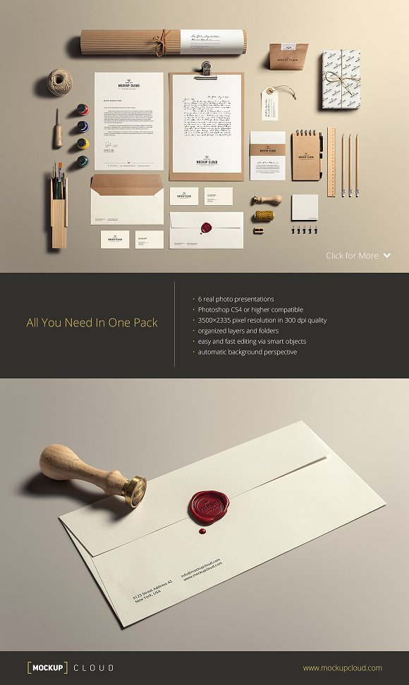 Download Art & Craft / Stationery Mock-Up - Free Download PSD