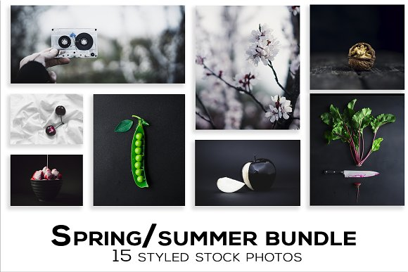 Spring Summer With Food Photo Bundle