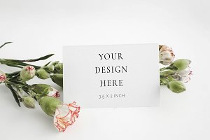 Floral Spring Business Card Mockup