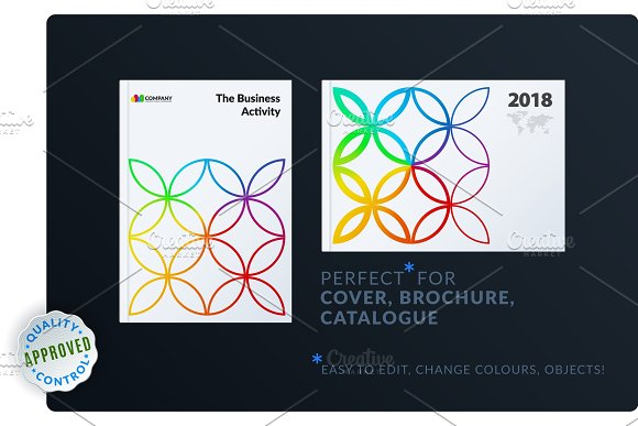 Creative Design Of Brochure Set Abstract Annual Report Horizontal Cover Flyer In A4
