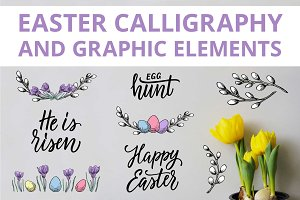 Easter calligraphy and graphic.