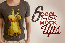 6 Retro/Vintage T-shirt Mock-ups