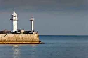 Old Port lighthouse on the Black Sea